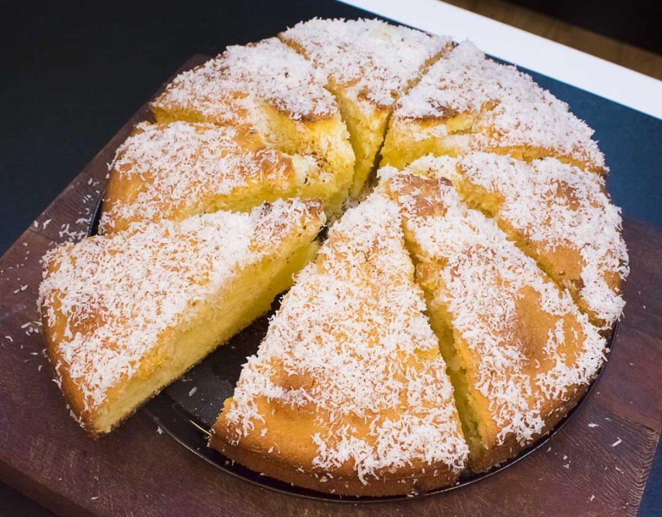 آموزش کیک نارگیلی